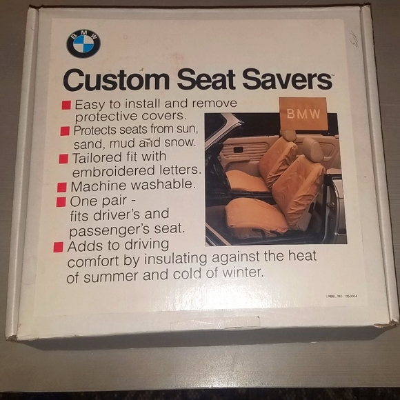 New in Box! BMW Custom Seat Cover